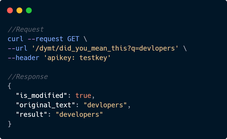 Did you Mean This API Code Sample