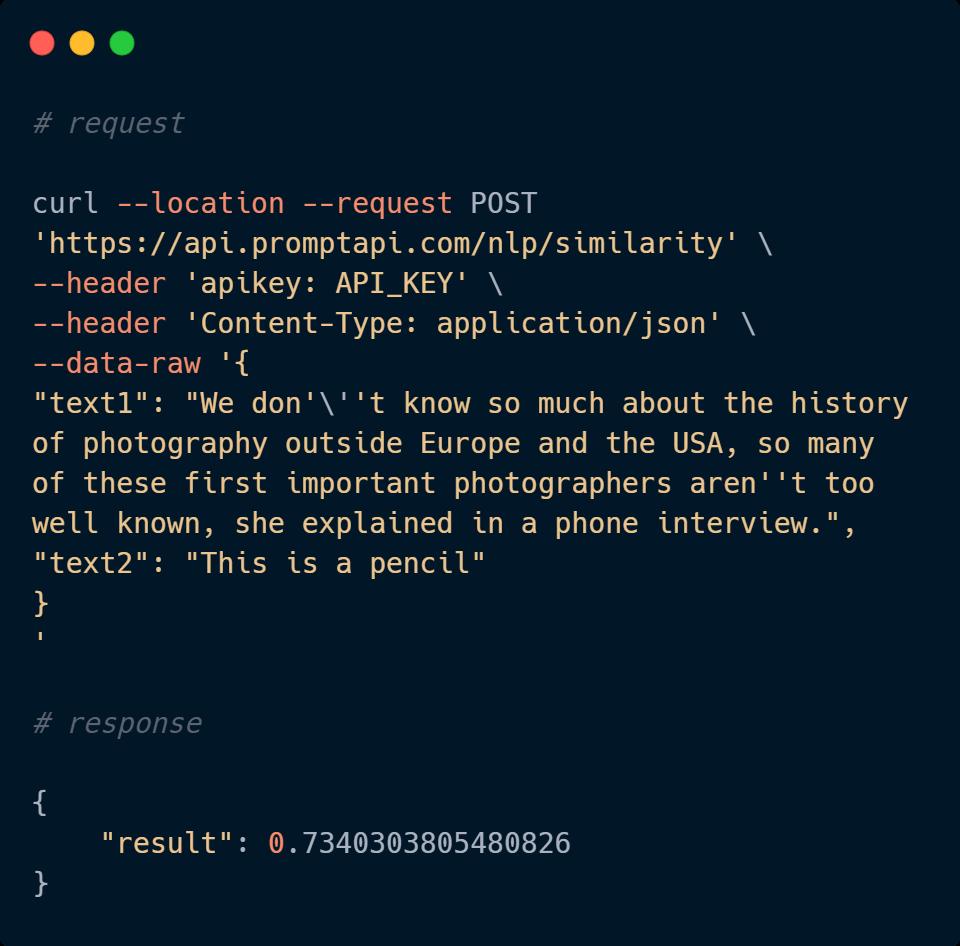 NLP API Code Sample