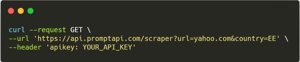 Scraper API Code