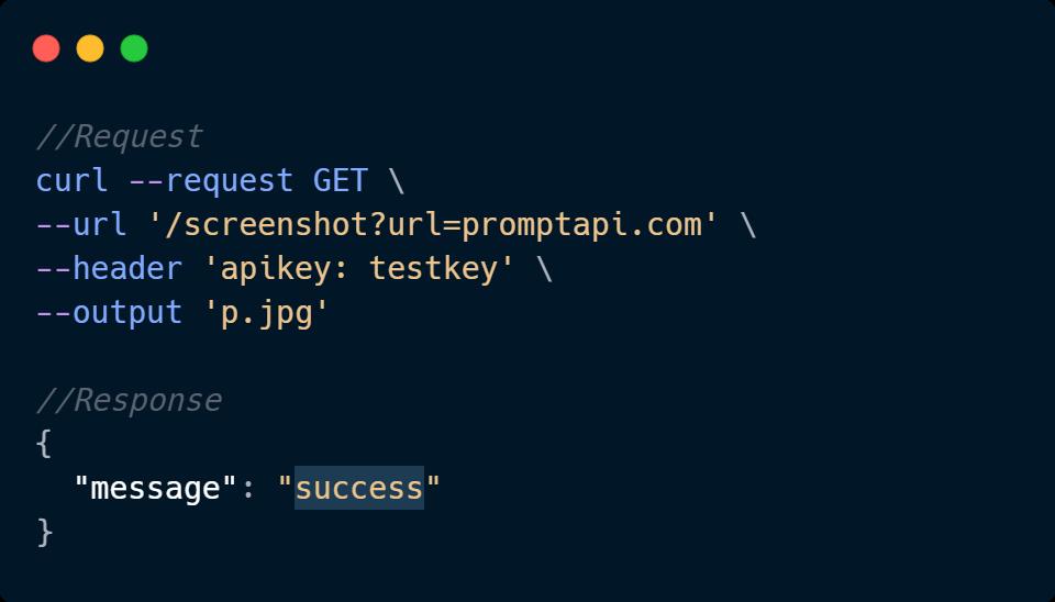 Screenshot API Code Sample
