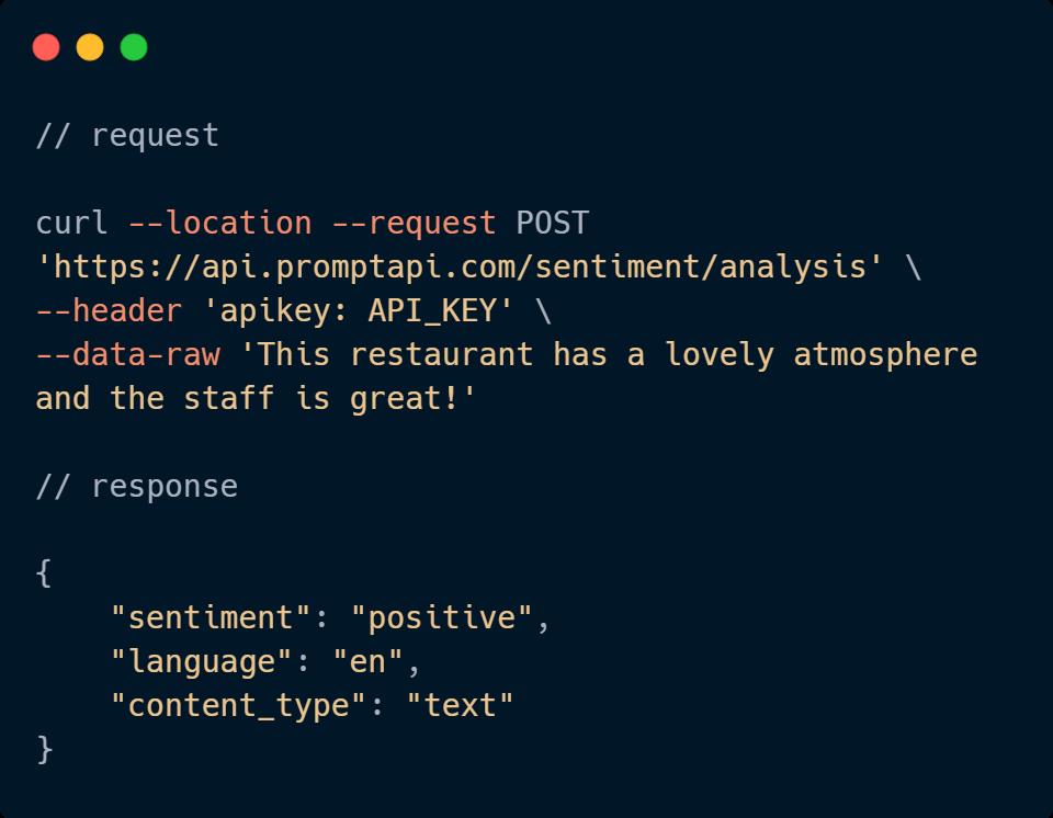 Sentiment Analysis API Code Sample