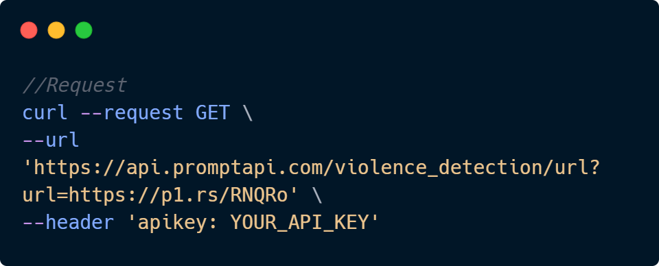 Violence Detection API Code Sample