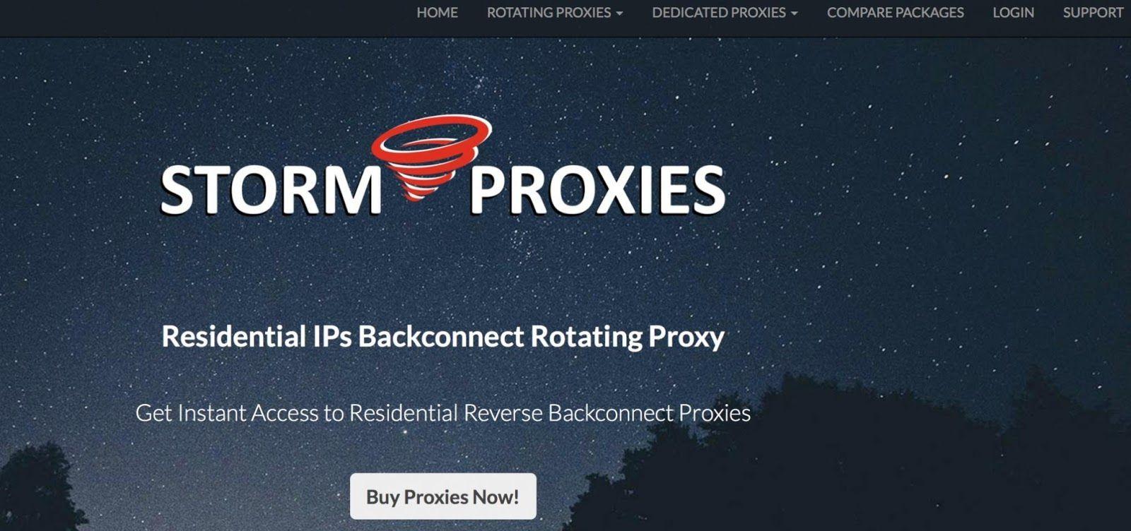 Stormproxies Website