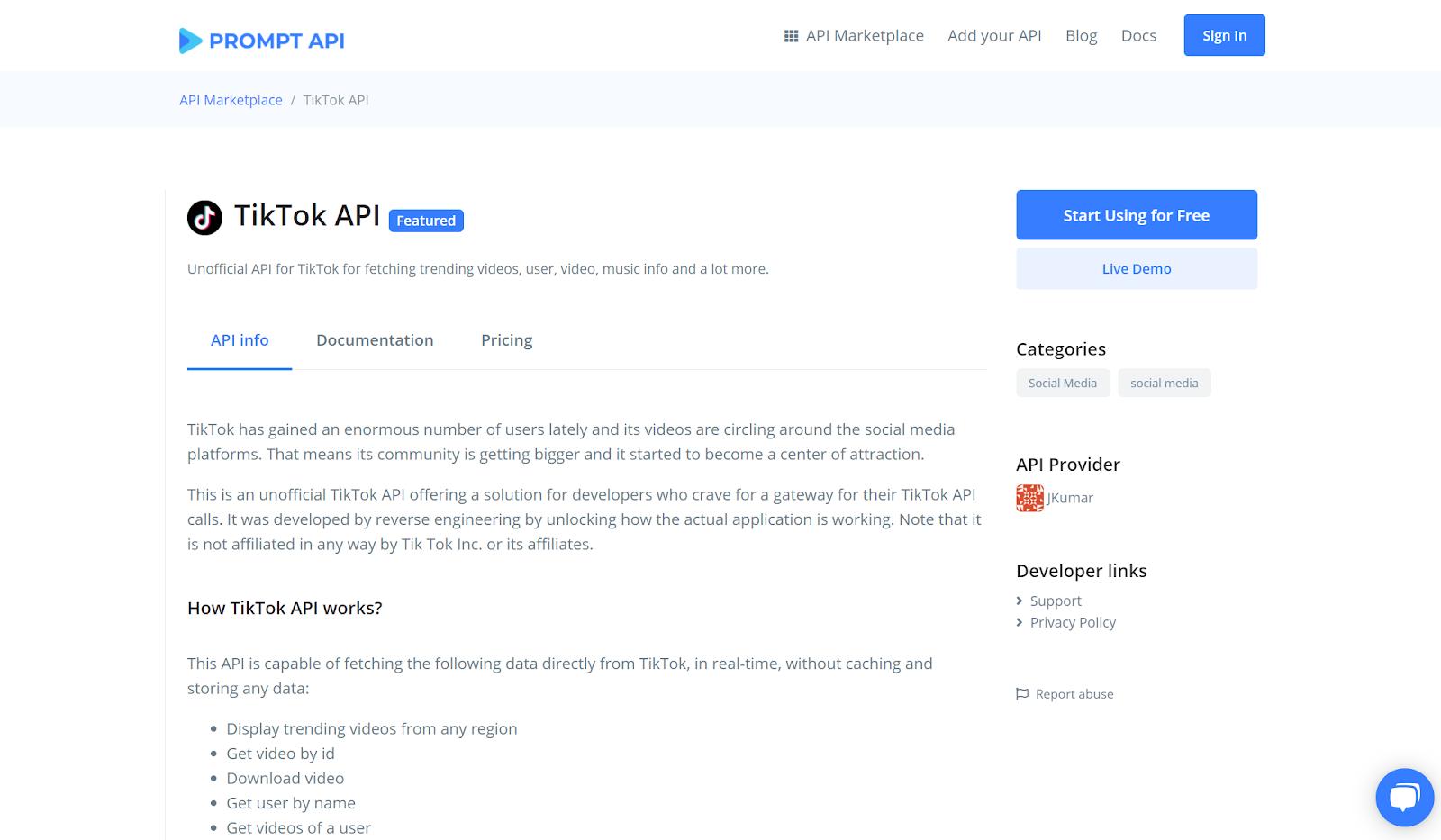 Unofficial Tik Tok API