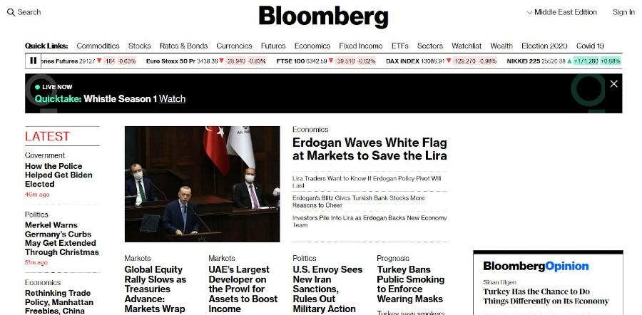 Bloomberg Homepage