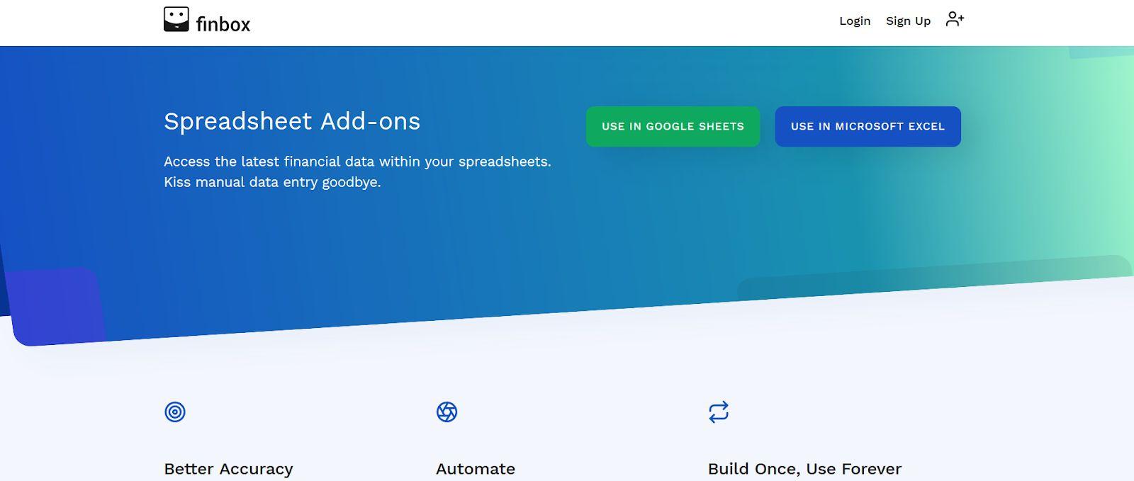 Finbox Homepage