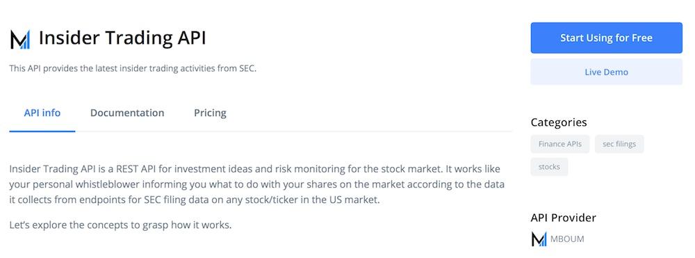Insider Trading API