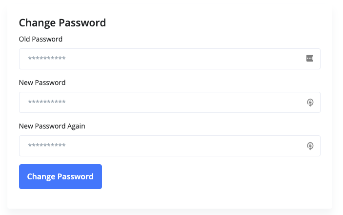 Change Password Section
