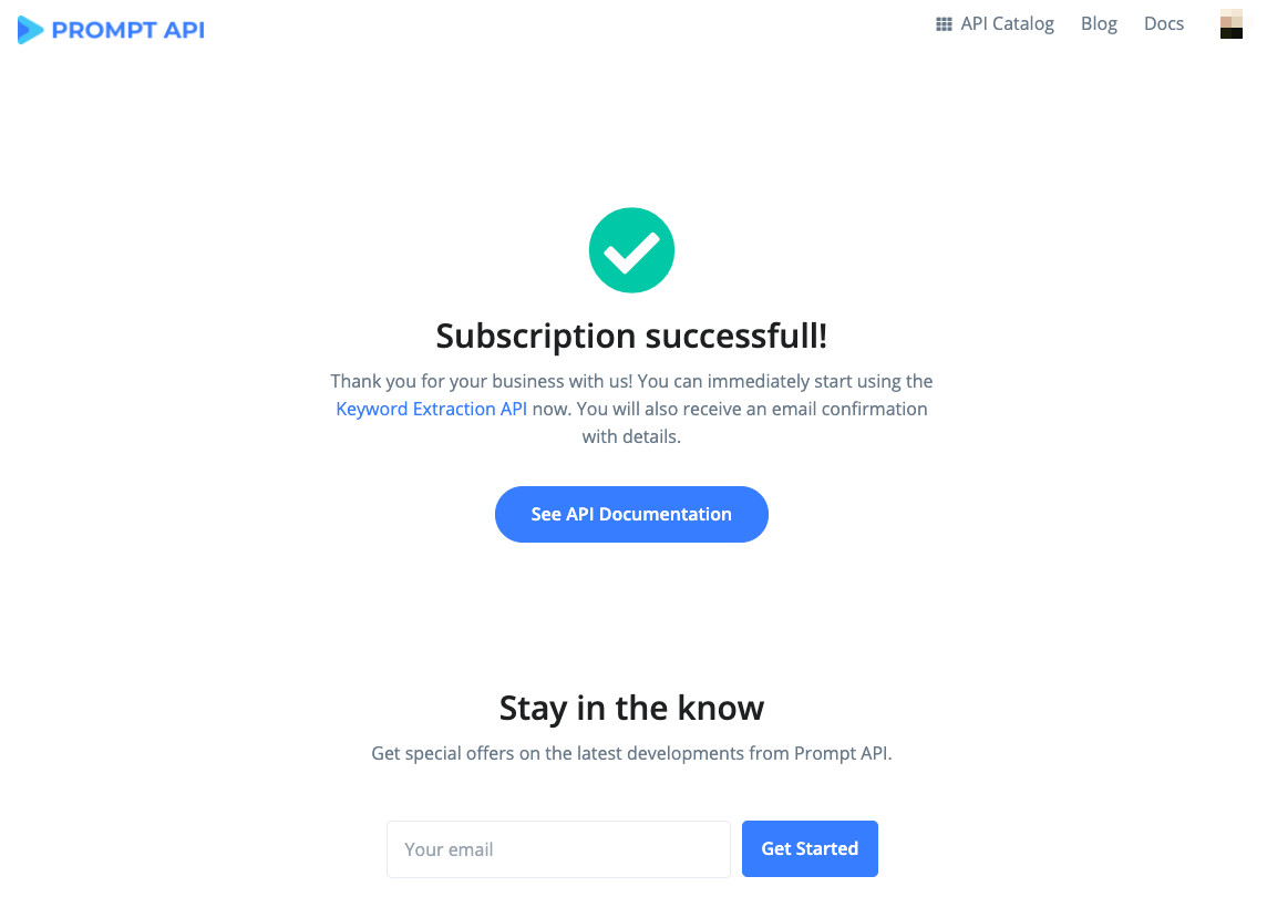 Subscription Successful